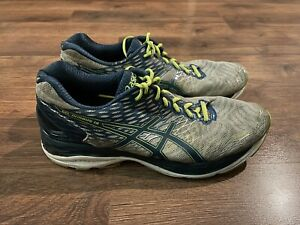 Asics Gel Nimbus 18 Mens Size 9 Blue Gray Sneakers Shoes Running Athletic