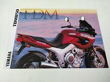Yamaha TDM 850 de 1997 Prospectus Catalogue Brochure Motos
