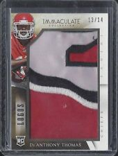 DE'ANTHONY THOMAS 2014 IMMACULATE LOGOS JUMBO 4 COLOR JUMBO LOGO PATCH RC #D /14
