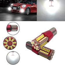 2Pcs Bombillas T10 194 168 3014 57-SMD 5W LED Bulbos Coche Blanco Luz Lámpara fd
