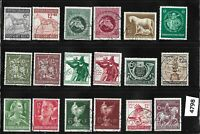 #4798     Used stamp set / Regular Postage / WWII Germany / 1940s Third Reich