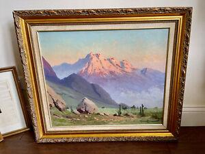 Benito Ramos Catalan Oil Painitng Chilean California Mountain Desert Artist