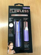 JML Finishing Touch Flawless Gold-Plated Facial Hair Remover-Lavender NEW