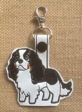 New ListingCavalier King Charles Spaniel Tri Color, Key Fob, Embroidered, Custom, Key Chain