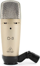 Like N E W Behringer C-3 Condenser Microphone Auth Dealer Opened Box Never Used!