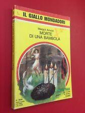Margot ARNOLD - MORTE DI UNA BAMBOLA Giallo Mondadori 1896 (1985) Libro