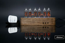 IN-14 NIXIE TUBE CLOCK WOOD ENCLOSURE GPS ALARM AND ADAPTER 6-tubes by MILLCLOCK