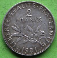 FRANCE 2 FRANCS SEMEUSE 1901