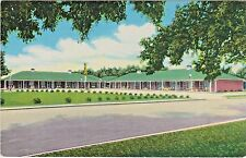 Erin Rancho Motel in Grand Island, Nebraska - 1952 Postcard View