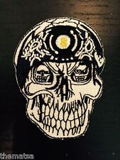 SKULL WITH 8 BALL BANDANNA EMBROIDERED BIKER VEST JACKET PATCH