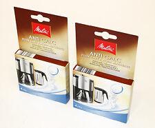 2 Packs Melitta Anti Calc Descaler for Kettles/Coffee Machines, 4 X 12g,6545475