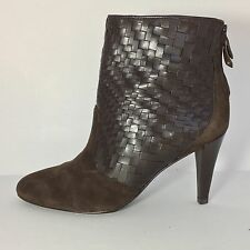 Cole Haan Women's Brown Leather Suede Genevieve Nike Air Ankle Boots Size 9 M