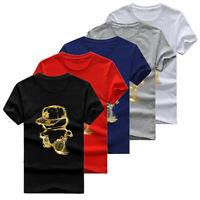 Men's Cotton T-Shirt Short Sleeve Summer Tops Big Size S-5XL CH
