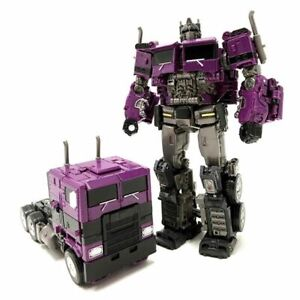 Purple Optimus Prime Action Figure Toy Model Transformer Autobot Truck Vehicle