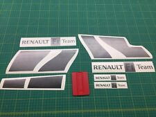 RENAULT SPORT megane F1 Team Grafite e Nero Decalcomania Set Adesivi Grafica 225