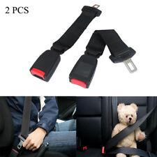 "2Pcs 14"" Car Seat Belt Seatbelt Safety 7/8"" Buckle Extender Extension Black"