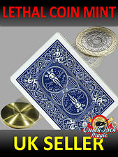 Lethal Coin Trick Mint 2 Pound - Two Pound Mint - Close up Magic Trick
