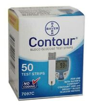 50 Contour Test Strips 1 Box of 50 ct Exp 12/2021-Freaky Fast Shipping!