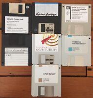 Mac Lot Vtg 90s Epson Printing Software Drivers Install Floppy Disks Macintosh