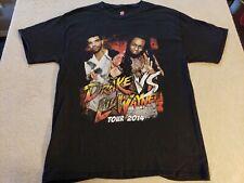 Drake VS. Lil Wayne 2014 Tour T Shirt Size Large L