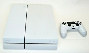 Sony Play Station 4 White 1 Wireless Controller 12 Games Power Cord (WB)(SH)