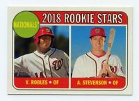 2018 Topps Heritage #284 VICTOR ROBLES ANDREW STEVENSON Washington Nationals RC