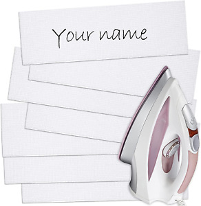 Writable Iron On Clothing Labels Pre-Cut Iron On Clothing Name Labels Tags for S