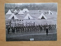 MILITARY PHOTOGRAPH - ROYAL HORSE ARTILLERY - Q BATTERY AT CAMP - m914