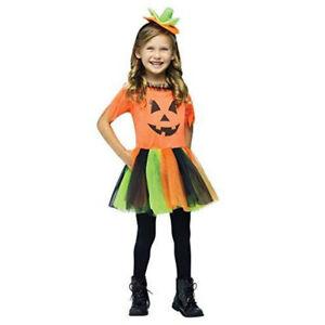 Fun World Pretty Pumpkin Halloween Girl Child Toddler Costume Size 4-6 Tutu