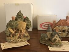 9 Piece Collection, David Winter Cottages With Boxes, Vintage, 1980s,+ Book