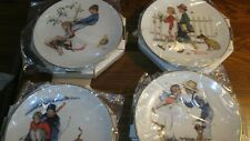 1972 - Norman Rockwell Four Seasons Plates Limited Ed. Gorham Set of 4