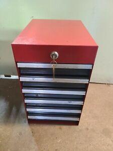 Vintage Sears Craftsman Side Mount Tool Box - 6 drawer toolbox