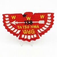 Boy Scout Ta Tsu Hwa Lodge 138 OA Flap Patch BSA WWW WDG