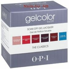 OPI Gel Color Kit Nail Lacquer Salon UV Soak Off THE CLASSICS. 6 Colors set