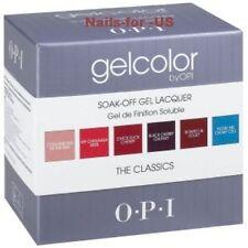 OPI Gel Color Kit Nail Lacquer Salon UV Soak Off THE CLASSICS. 6 Colors set