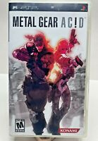 *AWESOME GAME* Sony PSP Konami Metal Gear Ac!d Complete w/Manual FREE SHIPPING