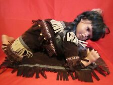 "Porcelain Doll Cathay Collection 18"" Native American Crawling Baby"