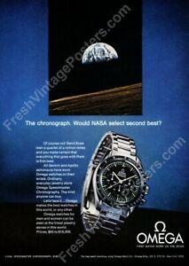 1970 Omega Speedmaster moon watch photo classic ad new poster 17x24