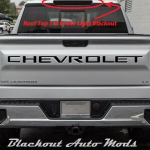2019 2020 Chevy Silverado 3rd Brake Light Blackout Kit Smoked Vinyl Overlay