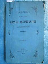 CONSEIL D'ANNECY GENEVOIS, Faucigny, Chablais, 1849.