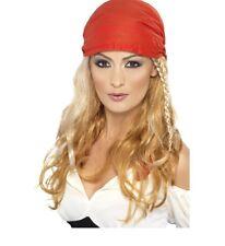 Parrucca Da Pirata Ladies Pirate Wig + Bandana Braids Caribbean PS 03260
