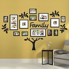 19 Piece Family Tree Wall Photo Collage Art Frame Picture Set Home Decor NEW