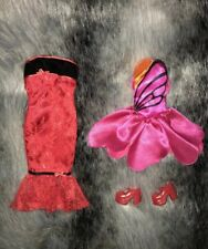 Vêtement Poupée Mannequin : Lot 2 Robes Courtes + Chaussures Poupée Barbie