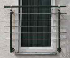 Französischer Balkon Alu Geländer anthrazit  1,5 m Geländer (seitliche Montage)
