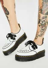 Dr Martens Sidney White Leather Creepers Women's Size 8