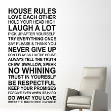 Wall Sticker Art Home Decoration House Rules Quote English