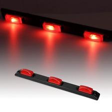 "17"" Red Clearance ID Bar Side Marker 9LED 3 Light Trailer Sealed Pickup"