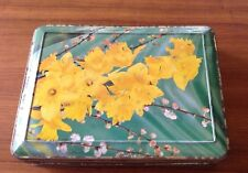 VINTAGE AUSTRALIAN GRIFFITHS SWEETS TIN YELLOW FLORAL