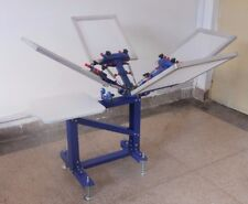 4 Color Screen Printing Equipment 1 Station Vertical Press Printer Silk Machine