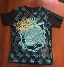 Christain Audigier T Shirt Los Angeles Skull Large Ed Hardy